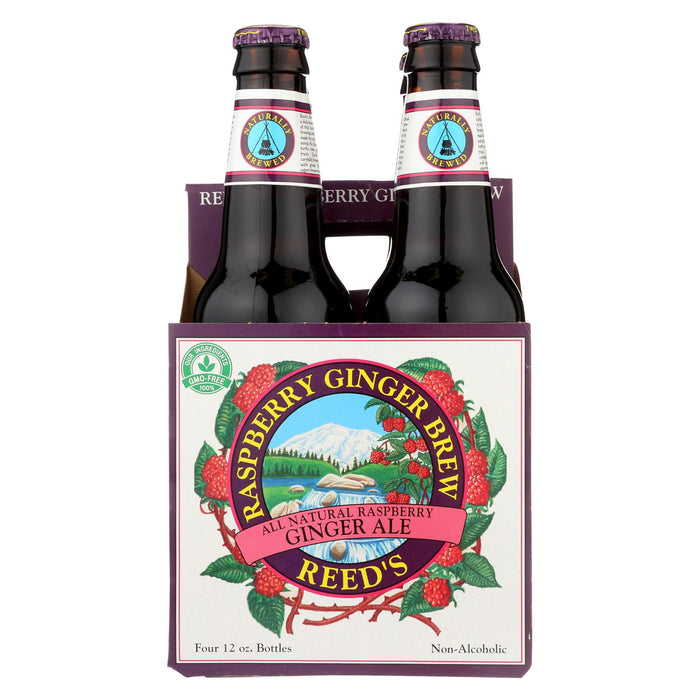 Reed's Ginger Beer Ginger Brew - Raspberry - Case Of 6 - 12 Fl Oz.
