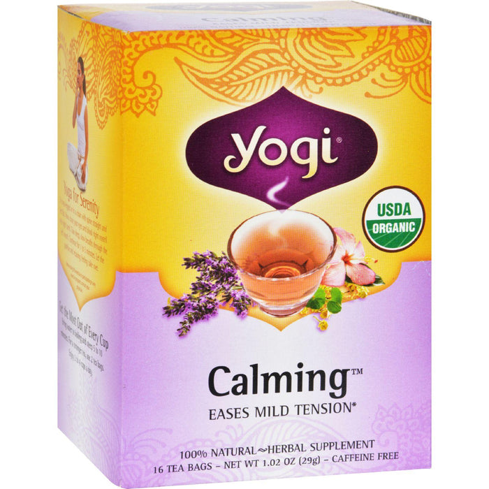 Yogi Organic Calming Herbal Tea - 16 Tea Bags - Case Of 6