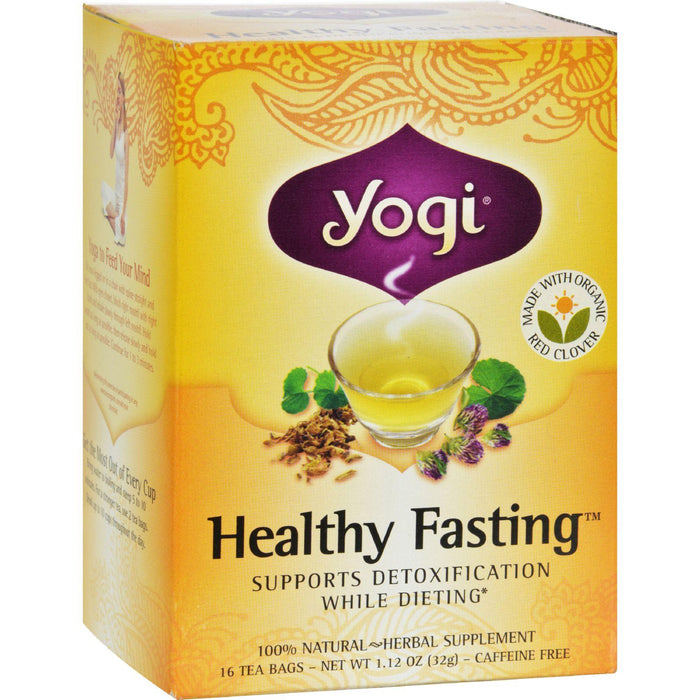 Yogi Healthy Fastingherbal Tea Caffeine Free - 16 Tea Bags - Case Of 6
