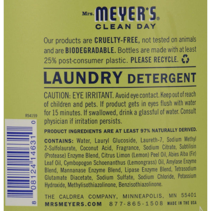 Mrs. Meyer's 2x Laundry Detergent - Lemon Verbana - Case Of 6 - 64 Oz