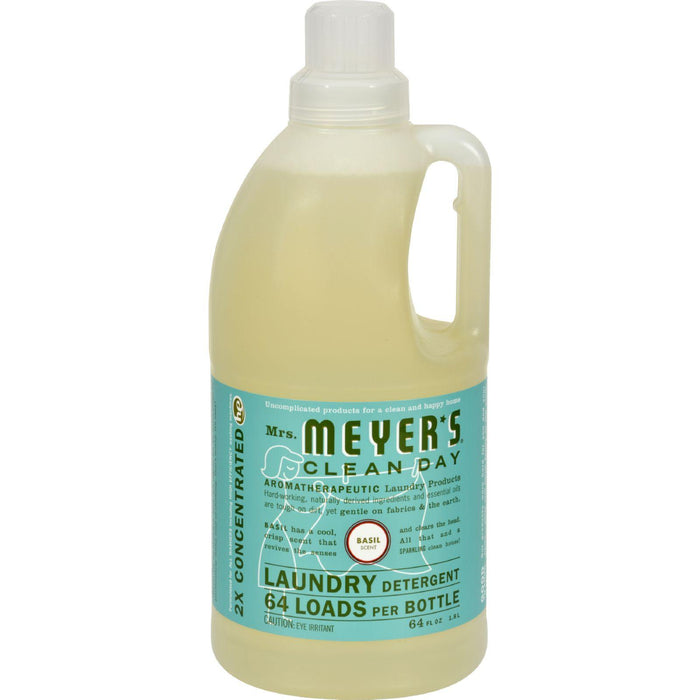 Mrs. Meyer's Clean Day - 2x Laundry Detergent - Basil - Case Of 6 - 64 Oz