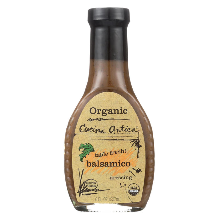 Cucina Antica Organic Balsamic Dressing - Case Of 6 - 8 Fl Oz.