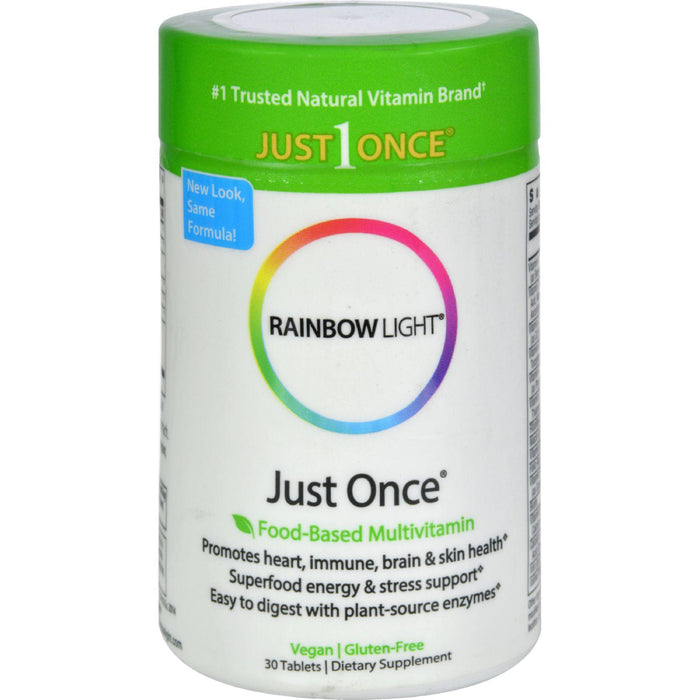 Rainbow Light Just Once Food-based Multivitamin - 30 Tablets