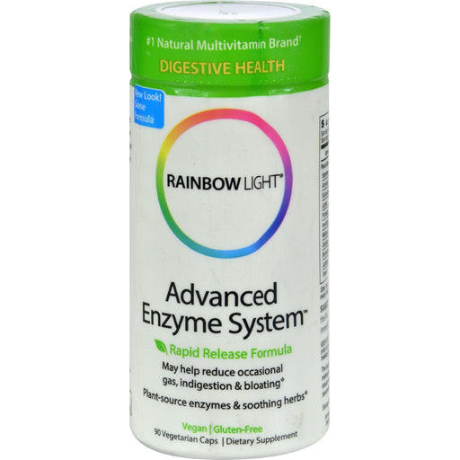 Rainbow Light Advanced Enzyme System - 90 Vegetarian Capsules