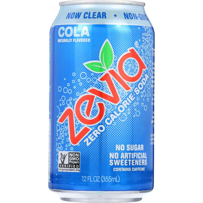 Zevia Soda - Zero Calorie - Cola - Can - 6-12 Oz - Case Of 4