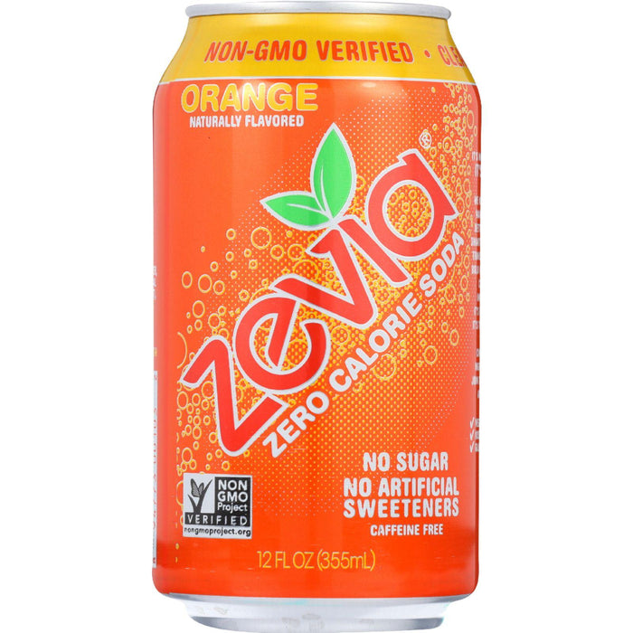 Zevia Soda - Zero Calorie - Orange - Can - 6-12 Oz - Case Of 4