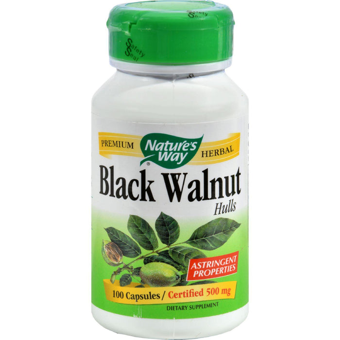 Nature's Way Black Walnut Hulls - 100 Capsules