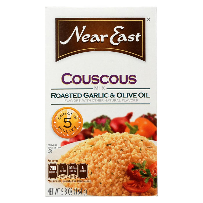 Near East Couscous Roasted - Olive Oil And Garlic - Case Of 12 - 5.8 Oz.