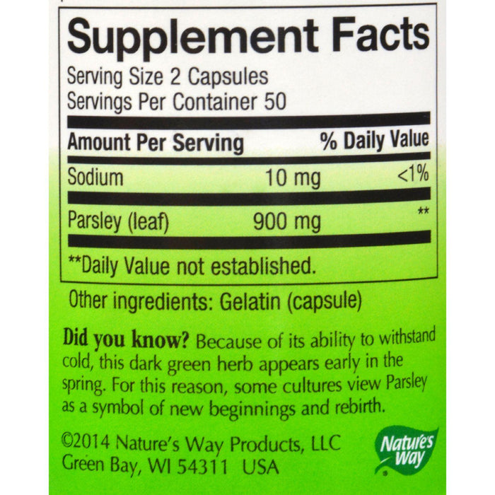 Nature's Way Parsley Leaf - 100 Capsules