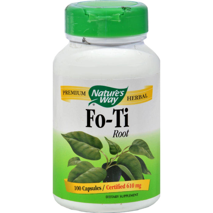 Nature's Way Fo-ti Root - 100 Capsules