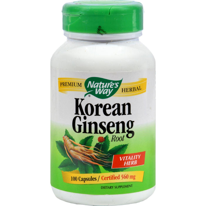 Nature's Way Korean Ginseng Root - 100 Capsules