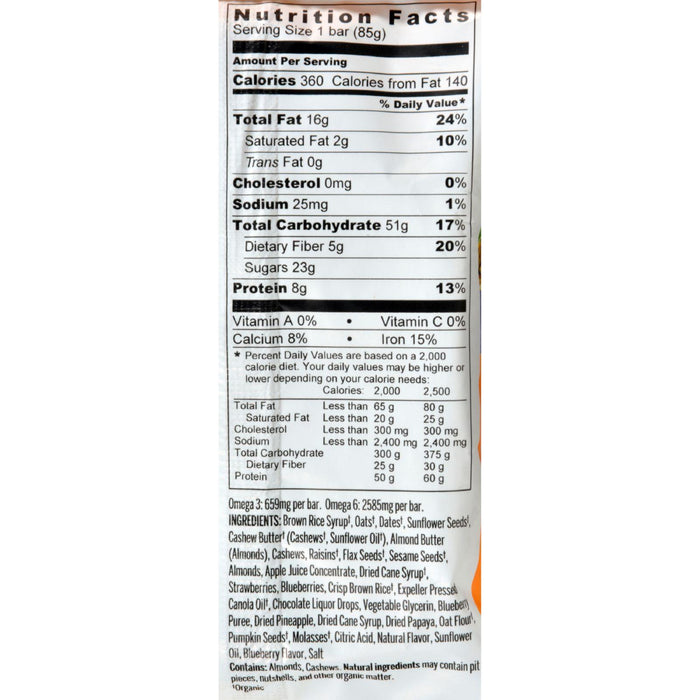Probar Organic Whole Berry Blast Bar - Case Of 12 - 3 Oz
