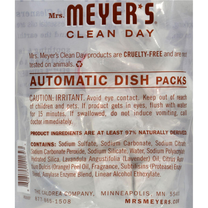 Mrs. Meyer's Automatic Dishwasher Packs - Lavender - Case Of 6 - 12.7 Oz