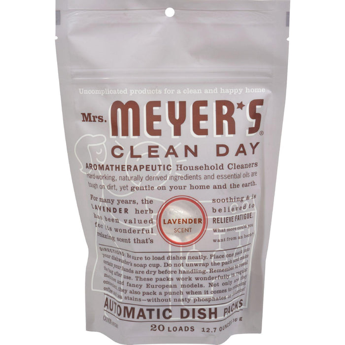 Mrs. Meyer's Clean Day - Automatic Dishwasher Packs - Lavender - Case Of 6 - 12.7 Oz