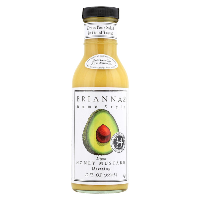 Brianna's Salad Dressing - Dijon Honey Mustard - Case Of 6 - 12 Fl Oz.
