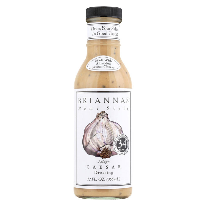 Brianna's Salad Dressing - Asiago Caesar - Case Of 6 - 12 Fl Oz.