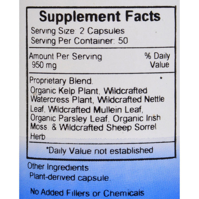 Dr. Christopher's Thyroid Maintenance - 485 Mg - 100 Vegetarian Capsules