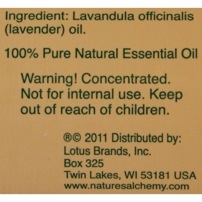Nature's Alchemy 100% Pure Essential Oil French Lavender - 2 Fl Oz