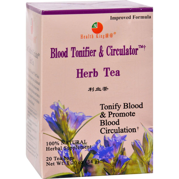 Health King Medicinal Teas Blood Tonifier And Circulator Herb Tea - 20 Tea Bags