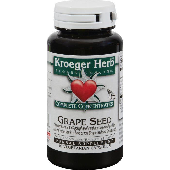 Kroeger Herb Grape Seed - 90 Vegetarian Capsules