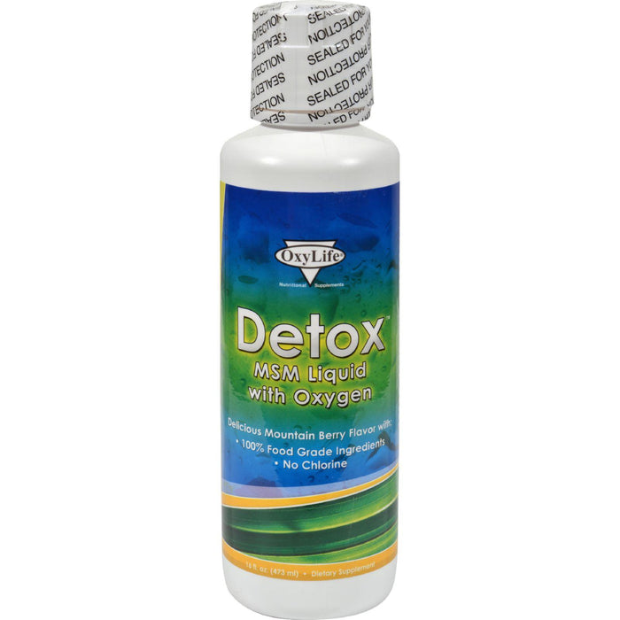 Oxylife Detox Msm Liquid With Oxygen - 16 Fl Oz
