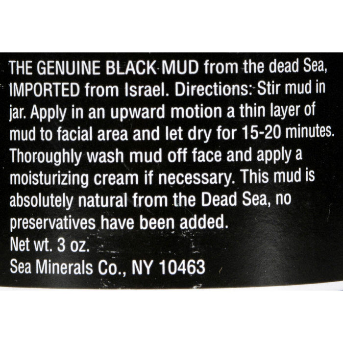 Sea Minerals Mud From The Dead Sea - 3 Oz