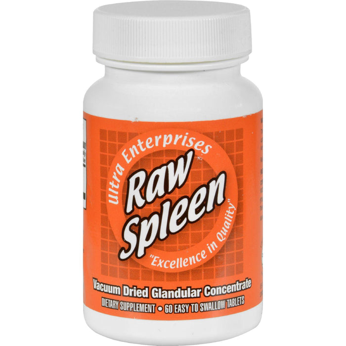 Ultra Glandulars Raw Spleen - 200 Mg - 60 Tablets