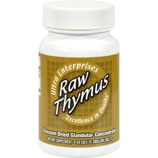 Ultra Glandulars Ultra Raw Thymus 200mg - 60 Tablets