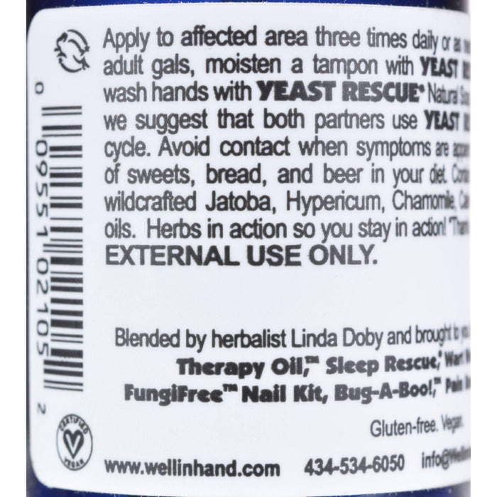 Wellinhand Yeast Rescue Spray - 2 Fl Oz