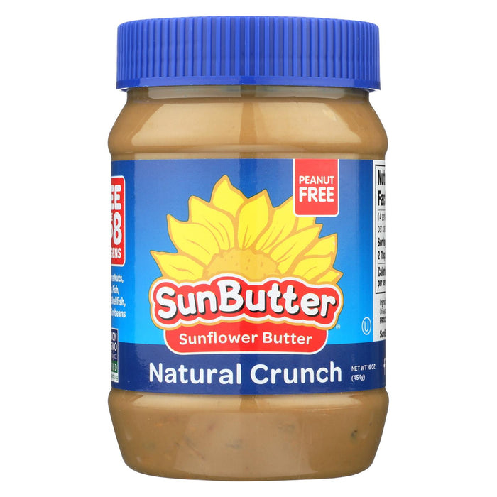 Sunbutter Sunflower Butter - Natural Crunch - Case Of 6 - 16 Oz.