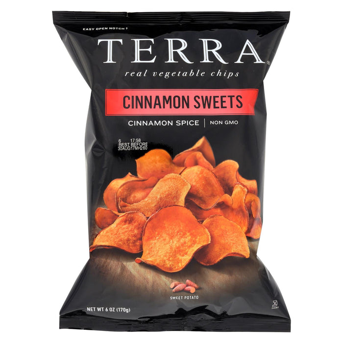 Terra Chips Sweet Potato Chips - Cinnamon Sweets - Case Of 12 - 6 Oz.
