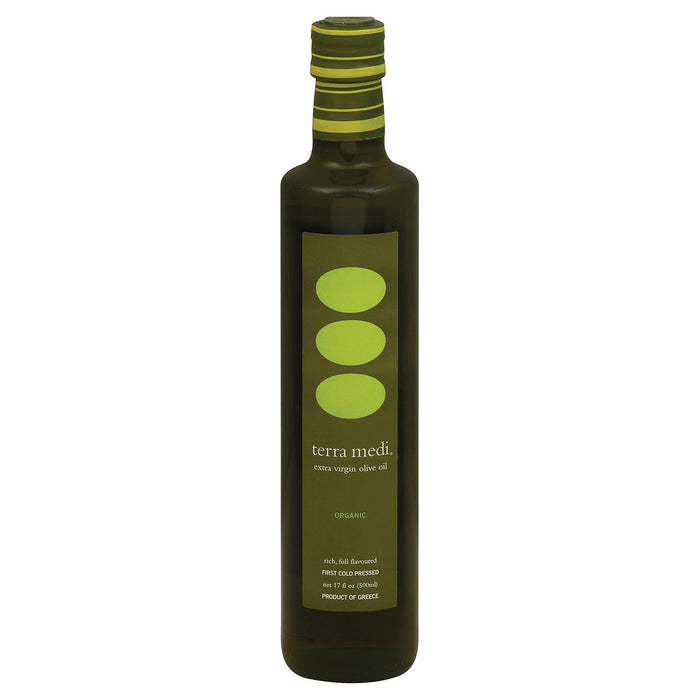 Terra Medi Olive Oil - Extra Virgin Medium - Case Of 6 - 17 Fl Oz.