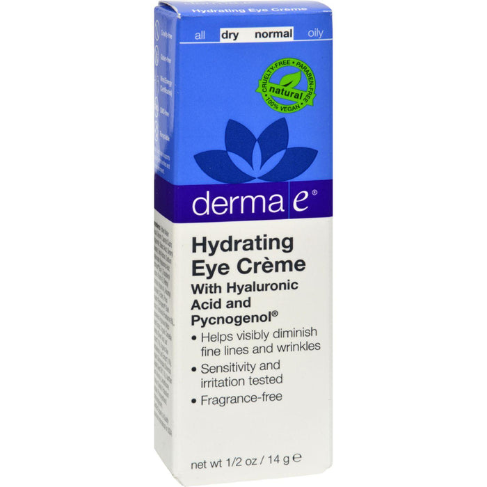 Derma E Eye Creme Hyaluronic And Pycnogenol - 0.5 Oz