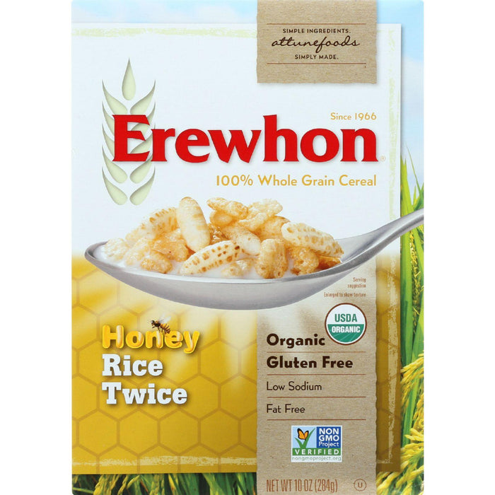Erewhon Cereal - Organic - Rice Twice - 10 Oz - Case Of 12