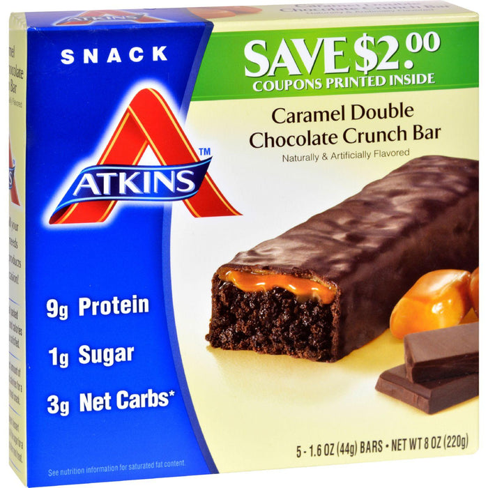 Atkins Advantage Bar Caramel Double Chocolate Crunch - 5 Bars