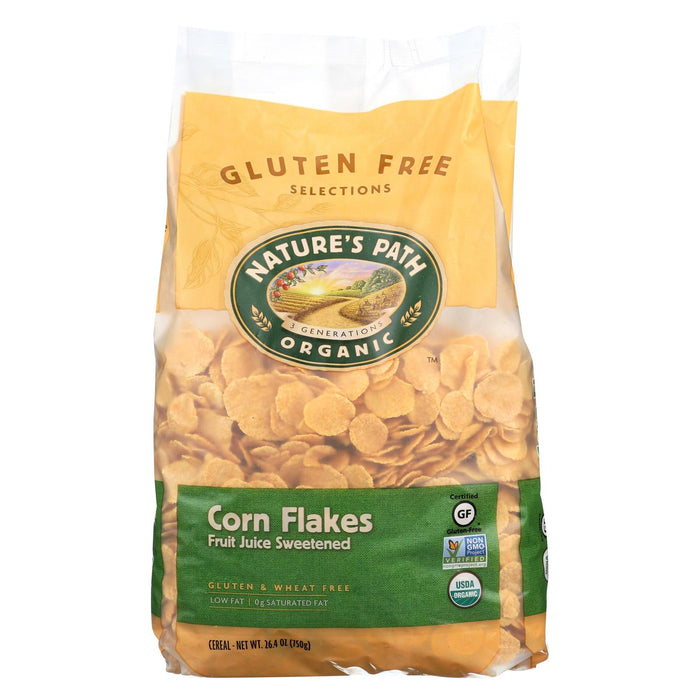 Nature's Path Organic Corn Flakes Cereal - Fruit Juice Sweetened - Case Of 6 - 26.4 Oz.