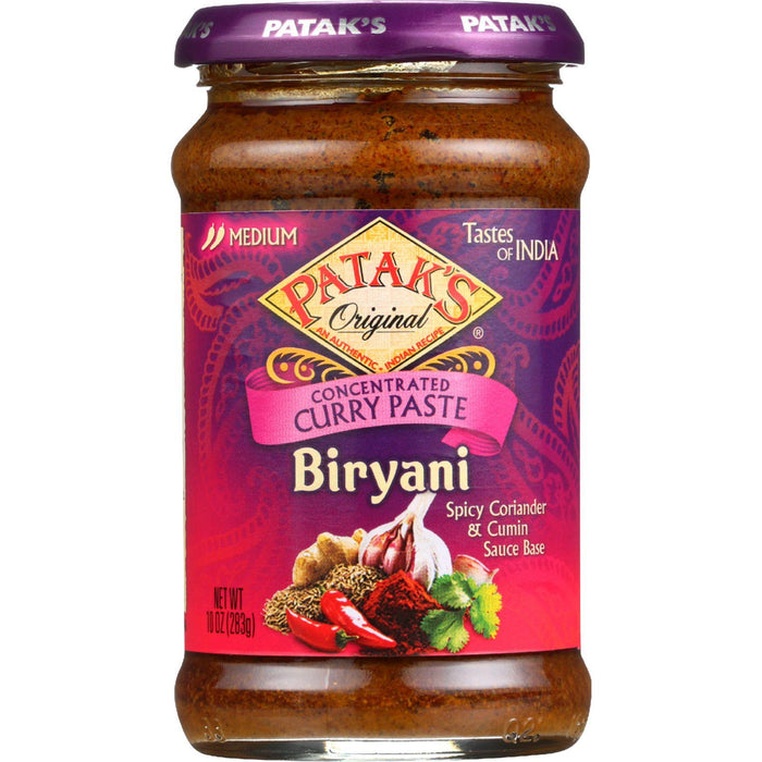 Pataks Curry Paste - Concentrated - Biryani - Medium - 10 Oz - Case Of 6
