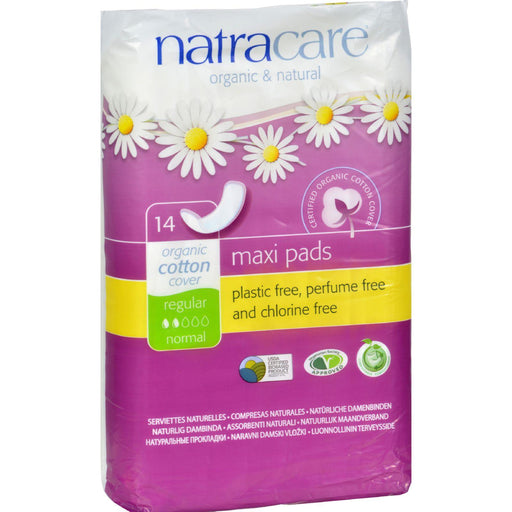 Natracare Natural Maxi Pads Regular - 14 Pack