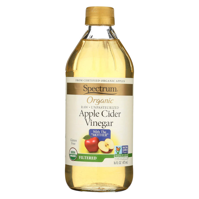 Spectrum Naturals Organic Filtered Apple Cider Vinegar - Case Of 12 - 16 Fl Oz.