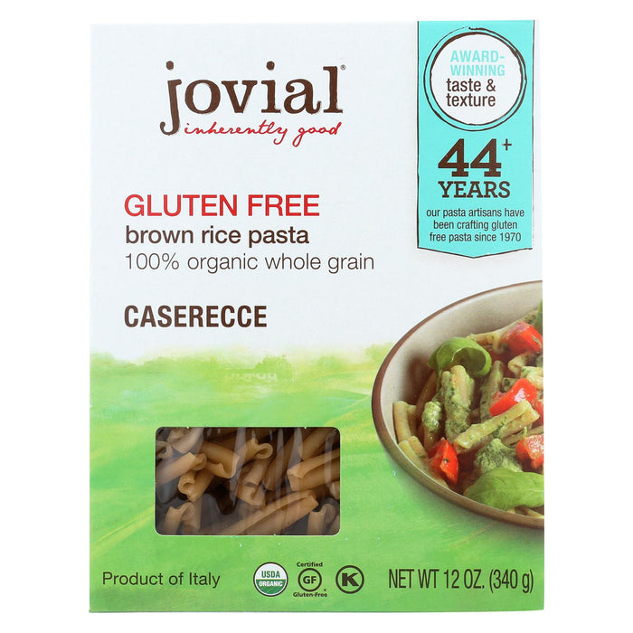Jovial Gluten Free Brown Rice Pasta - Caserecce - Case Of 12 - 12 Oz.