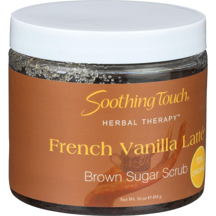 Soothing Touch Brown Sugar Scrub - French Vanilla Latte - 16 Oz