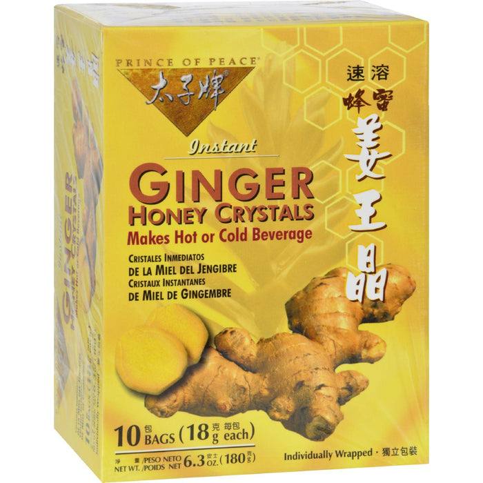 Prince Of Peace Ginger Honey Crystals - 10 Tea Bags