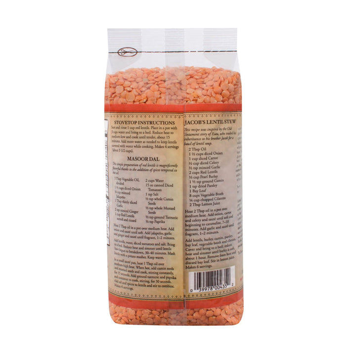 Bob's Red Mill Red Lentils Beans - 27 Oz - Case Of 4