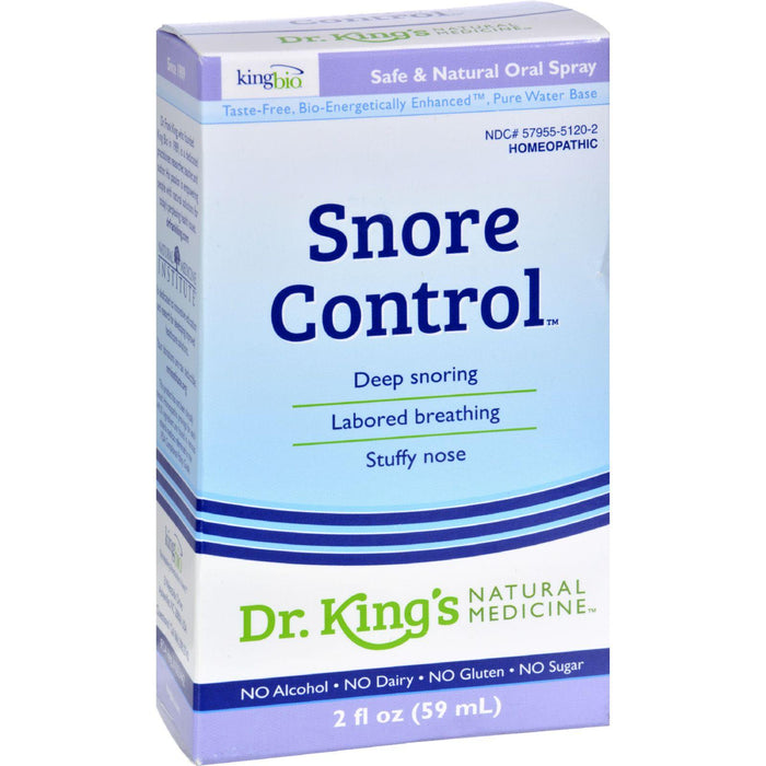 King Bio Homeopathic Snore Control - 2 Fl Oz