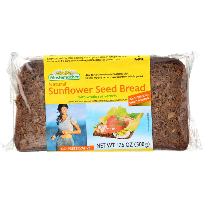 Mestemacher Bread Bread - Sunflower Seed - 17.6 Oz - Case Of 12