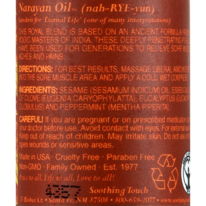 Soothing Touch Narayan Oil - Case Of 6 - 1 Oz