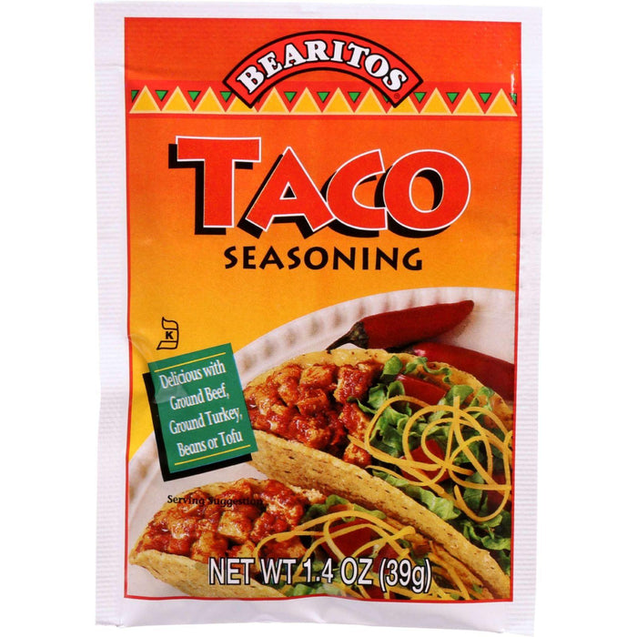 Bearitos Seasoning - Taco - 1.4 Oz - Case Of 12