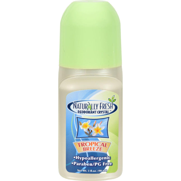 Naturally Fresh Roll On Deodorant Crystal Tropical Breeze - 3 Oz