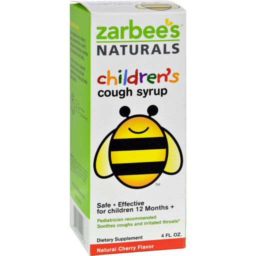 Zarbee's All-natural Children's Cough Syrup 12 Months+ - Natural Cherry Flavor - 4 Oz