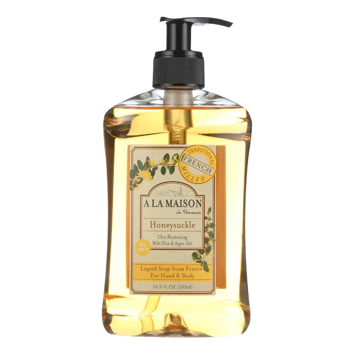 A La Maison French Liquid Soap - Honeysuckle - 16.9 Oz